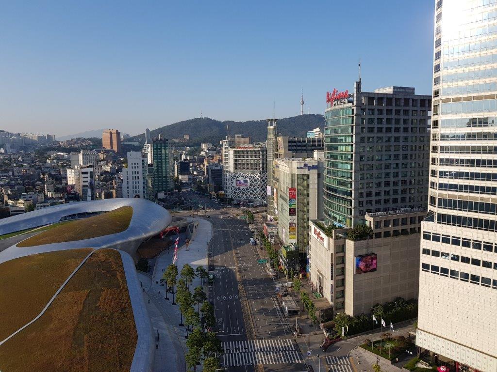 Daytime view over Dongdaemun in Seoul, South Korea